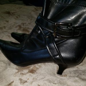 Sharp black ankle boots